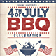 4th of July  /Labor Day BBQ Flyers - GraphicRiver Item for Sale