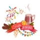 Banner with Red Ribbon and Quentao for Festa Junina - GraphicRiver Item for Sale