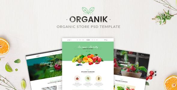 Organik – Organic store PSD Template