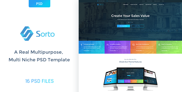 Sorto Multipurpose PSD Template - Creative PSD Templates