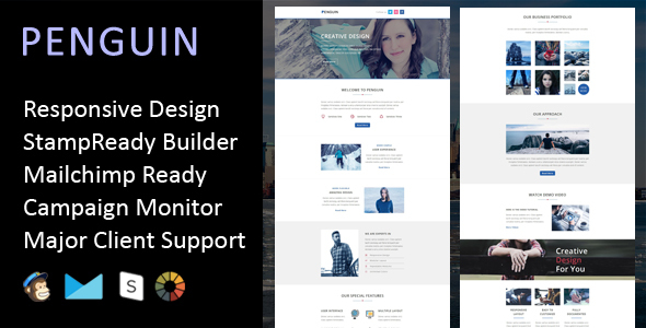 Penguin – Multipurpose Responsive Email Template + Stampready Builder