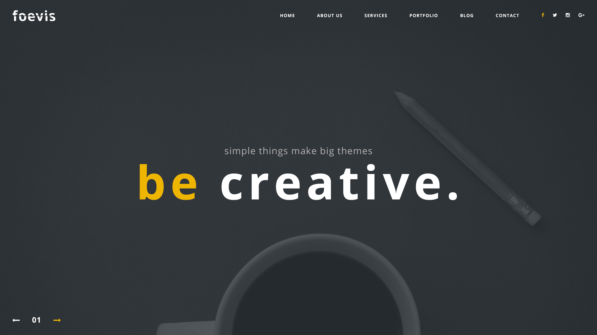 Foevis Creative Agency Psd Template By Sposobstudio Themeforest