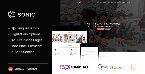 Sonic - Responsive & Multipurpose WordPress Theme