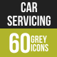 Car Servicing Greyscale Icons - GraphicRiver Item for Sale