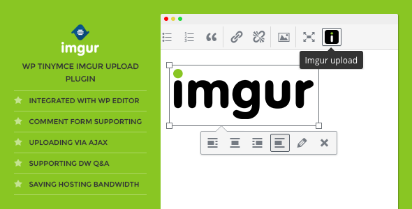 DW TinyMCE Imgur Upload - WordPress Plugin - CodeCanyon Item for Sale