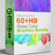 60+Water Color Brushes Sets