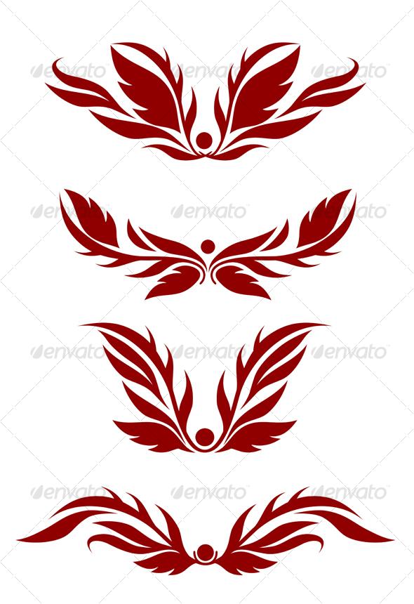 Floral decorations - Decorative Vectors