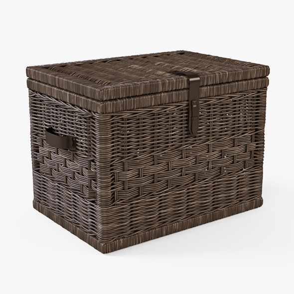 Wicker Storage Trunk 05 (Walnut Brown Color) - 3DOcean Item for Sale