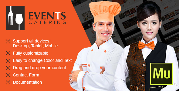 Event Catering - Multipurpose Muse Theme - Creative Muse Templates