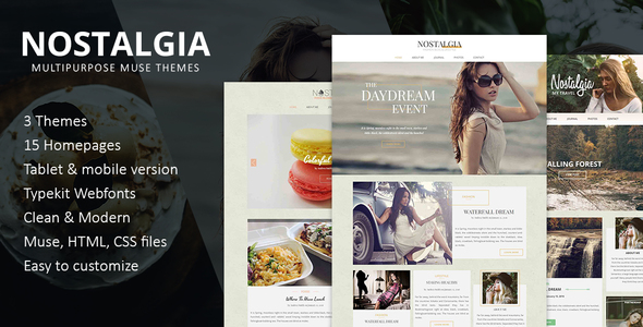 Nostalgia Multipurpose Muse Template - Creative Muse Templates