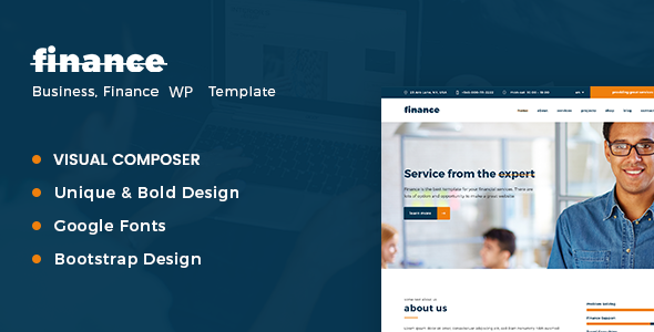 Finance, Consulting & Business WordPress Theme