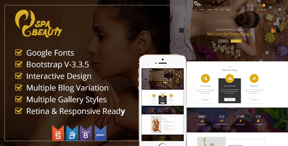 Spa Saloon Health & Beauty Care HTML Template