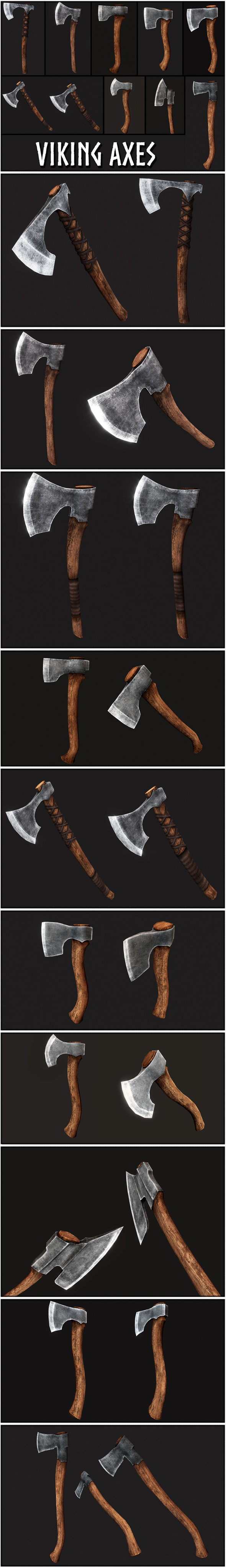Viking Axes Collection - 3DOcean Item for Sale