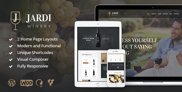 Jardi – Winery, Vineyard & Wine Shop WordPress Theme