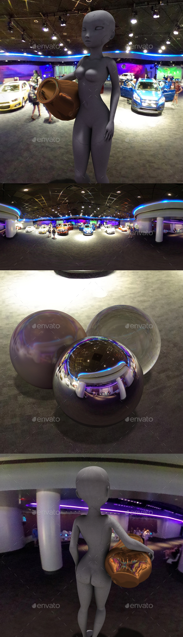Neon Car Showroom HDRI - 3DOcean Item for Sale