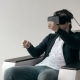 Man Wearing Virtual Reality Glasses  - VideoHive Item for Sale