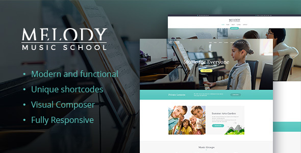 Melody – Music School WordPress Theme