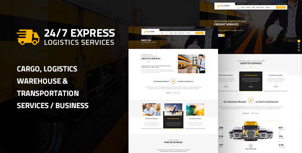 24/7 Express Logistics Services WordPress Theme - Business Corporate