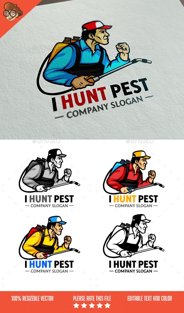 I Hunt Pest Logo - Humans Logo Templates