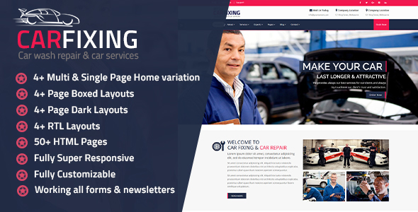 CarFixing | Car Repair & Car Wash HTML Template