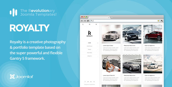 IT Royalty – Gantry 5, Photography & Portfolio Joomla Template