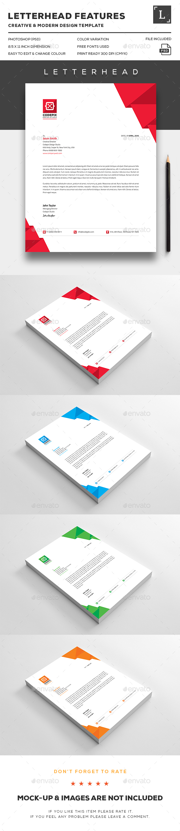 Shape corporate letterheads by uxcred graphicriver shape corporate letterheads stationery print templates spiritdancerdesigns Images