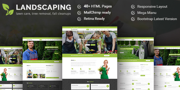 Landscaping- Gardening, Lawn & Landscape HTML5 Template