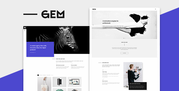 Gem – A Minimalist Template for Professionals