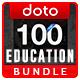 Education Banners Bundle - 6 Sets - 100 Banners