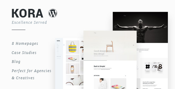 Kora - Portfolio, Agency WordPress Theme