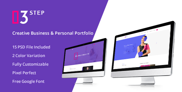 3 Step- Creative Business & Personal PSD Template - Creative PSD Templates