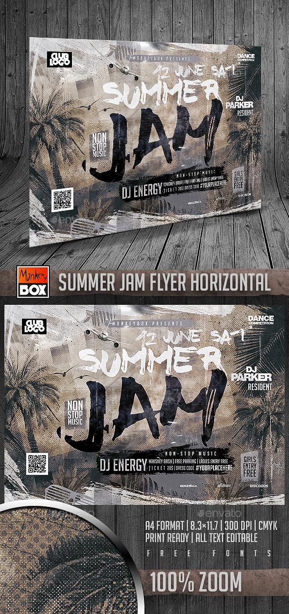 Summer Jam Flyer Horizontal