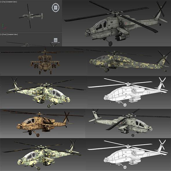 Apache_AH_64 - 3DOcean Item for Sale