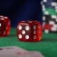 Red Dice In Sequence Rolls, Casino Chips, Cards On Green Felt - VideoHive Item for Sale