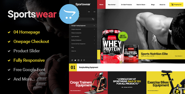 Sportwear – Multi Purpose Responsive OpenCart   Theme