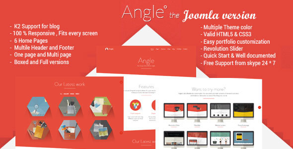 Angle - Responsive MultiPurpose Joomla Theme - Corporate Joomla