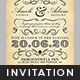 Vintage Wedding Invitation Template - GraphicRiver Item for Sale