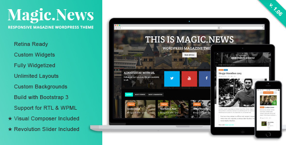 MagicNews - Responsive WordPress Magazine Theme