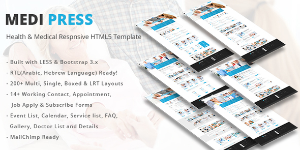 MediPress – Health & Medical Respnsive HTML5 Template