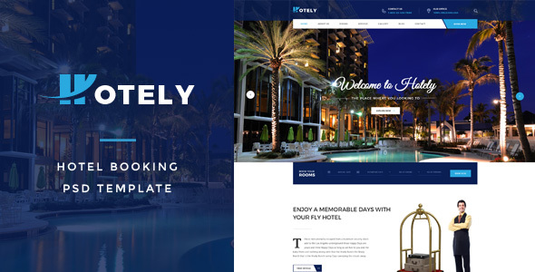 Hotely – Hotel Booking & Travel PSD Template