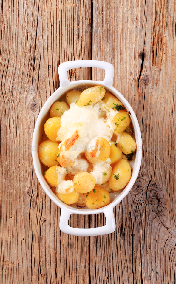 Potatoes and sour cream - Stock Photo - Images