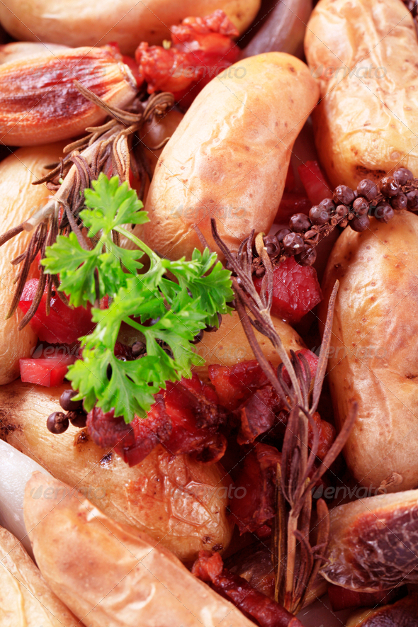 Potato dish - Stock Photo - Images
