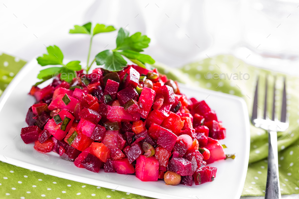 beetroot salad - Stock Photo - Images