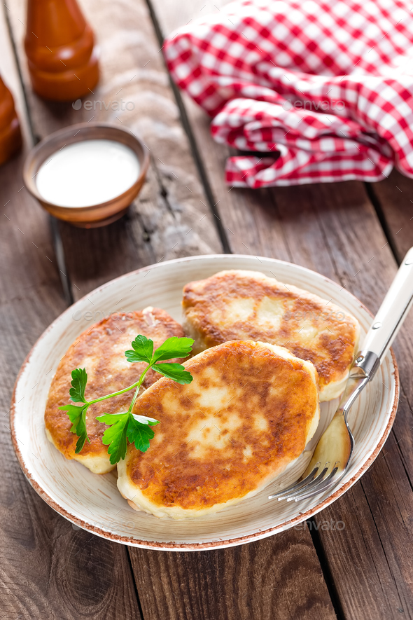 potato fritters - Stock Photo - Images