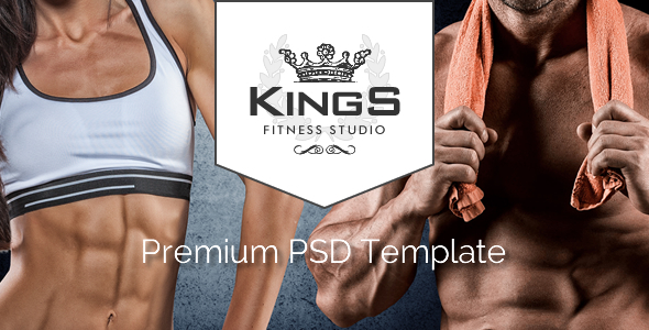 Kings Gym - Fitness PSD Template