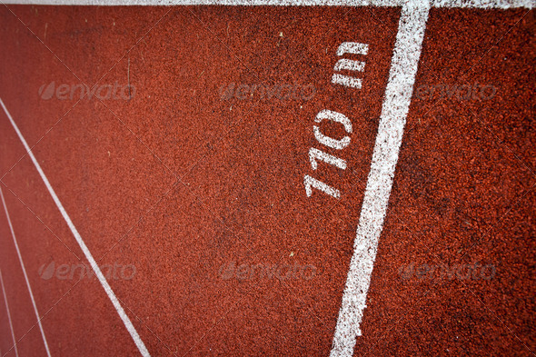 Sport grounds concept - Athletics Track Lane Numbers - Stock Photo - Images