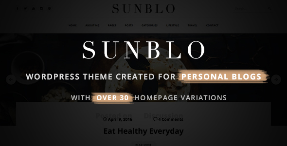 Sunblo – Responsive WordPress Blog Theme