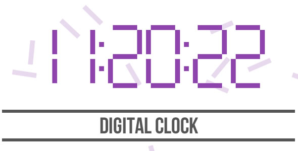 Digital Clock - HTML5 Canvas - CodeCanyon Item for Sale