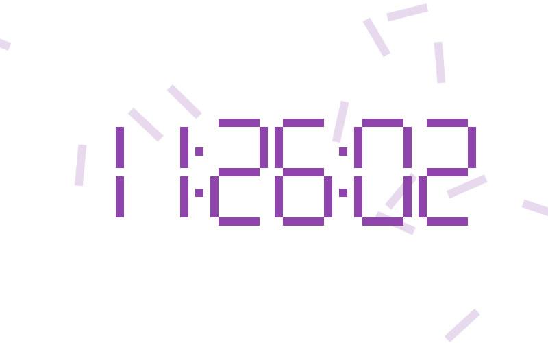 Digital Clock - HTML5 Canvas