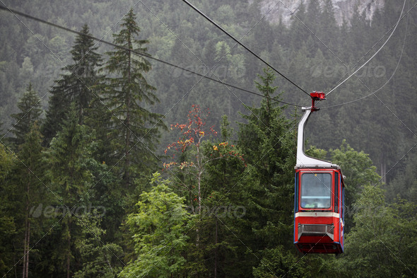 Cableway / Cable car - Stock Photo - Images